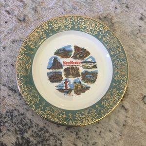 New Mexico landmark decorative plate